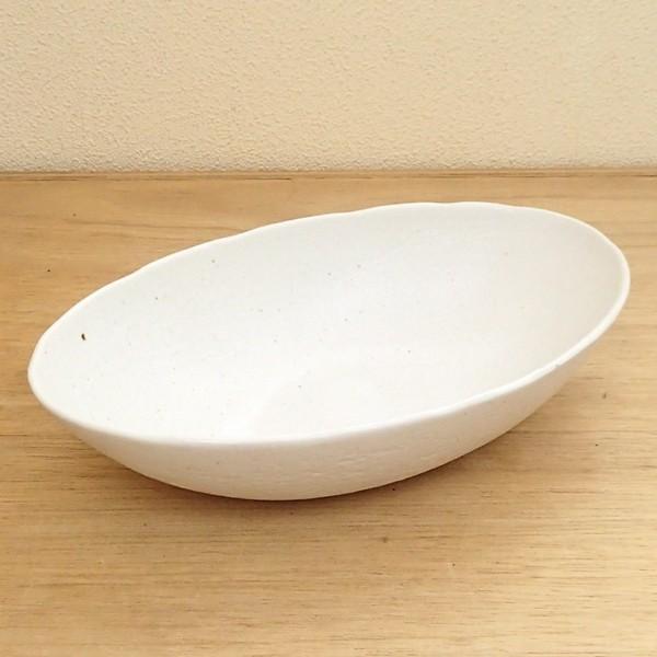 カレー皿 和食器 深め オーバル 22.5cm 和食器 灰マット砂目 楕円鉢 おしゃれ 業務用 カレーボウル|shikisaionline