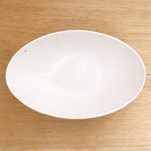 カレー皿 和食器 深め オーバル 22.5cm 和食器 灰マット砂目 楕円鉢 おしゃれ 業務用 カレーボウル|shikisaionline|03