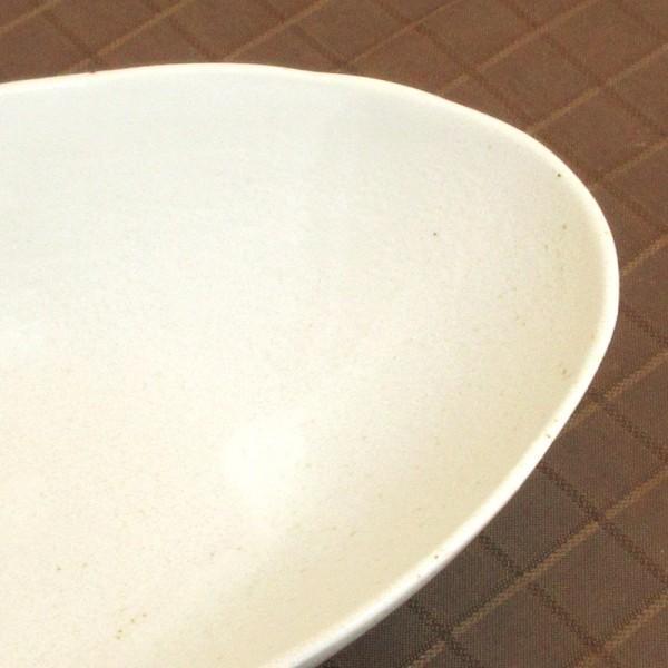 カレー皿 和食器 深め オーバル 22.5cm 和食器 灰マット砂目 楕円鉢 おしゃれ 業務用 カレーボウル|shikisaionline|05