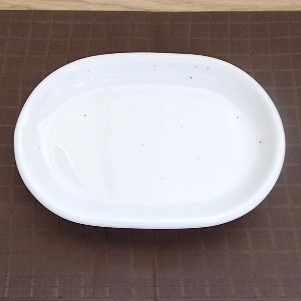 大皿 31.5cmプラター 楕円プレート 白 ミルキーウェイ おしゃれ 洋食器 業務用 美濃焼 k11113043