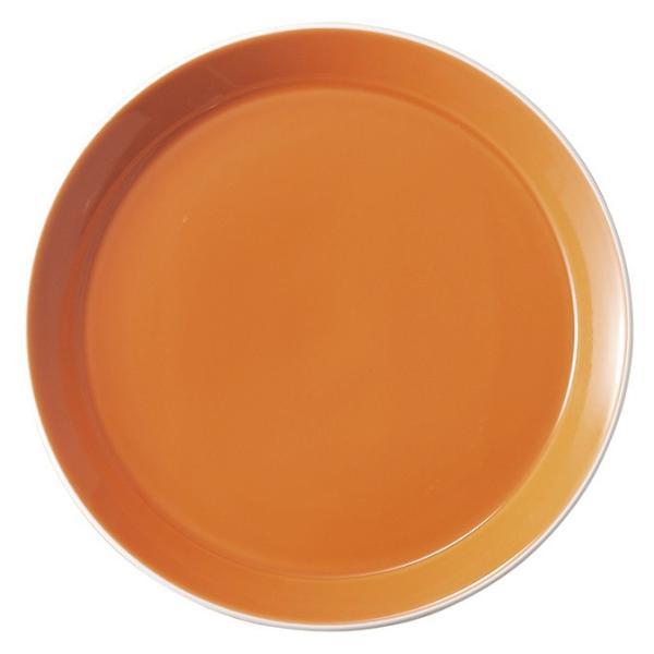中皿 丸皿 17cmプレート オレンジ パシオン おしゃれ 業務用 カフェ食器 美濃焼|shikisaionline