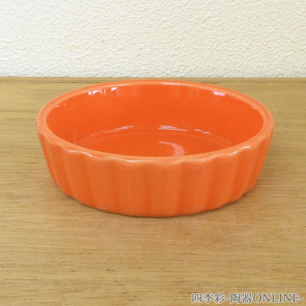 アヒージョ カスエラ タパス皿 直火対応 11cm オレンジ 業務用 日本製 k13751097|shikisaionline