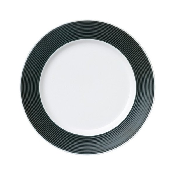 中皿 丸皿 21cmプレート ケーキ皿 カシスブラック ピコレ おしゃれ 洋食器 業務用 美濃焼 k16503005