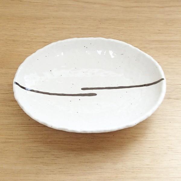 中皿 楕円皿 22.3cm クラフトライン カレー皿 和食器 美濃焼 業務用 m51523096|shikisaionline