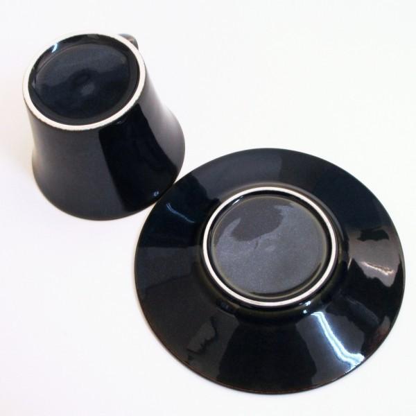 コーヒーカップ ソーサー 5客セット 窯変ネイビー 北欧ブルー 和陶器 おしゃれ 業務用 美濃焼|shikisaionline|04