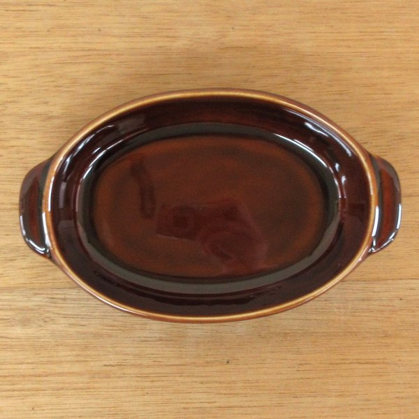 グラタン皿 オーバル 18cm ブラウン 磁器 シンプル おしゃれ 業務用 美濃焼|shikisaionline|02
