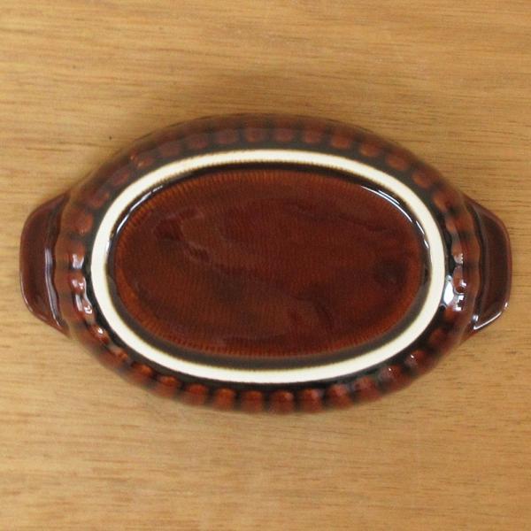 グラタン皿 オーバル 18cm ブラウン 磁器 シンプル おしゃれ 業務用 美濃焼|shikisaionline|03