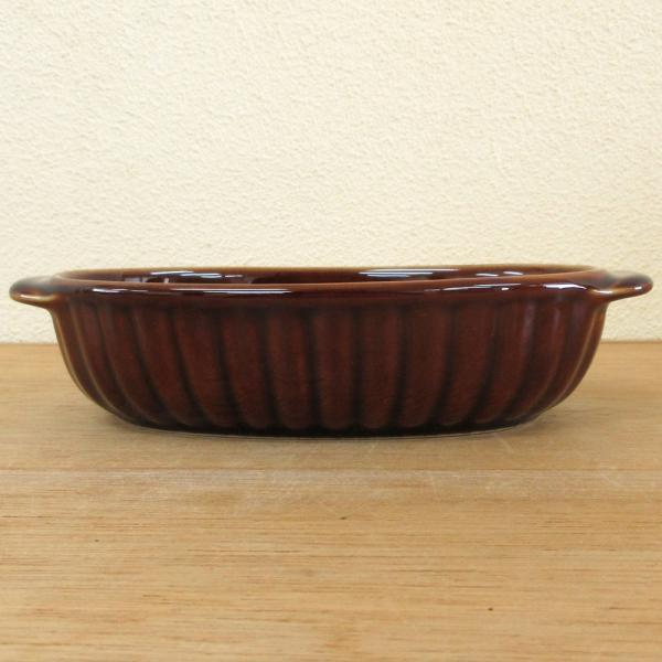 グラタン皿 オーバル 18cm ブラウン 磁器 シンプル おしゃれ 業務用 美濃焼|shikisaionline|04