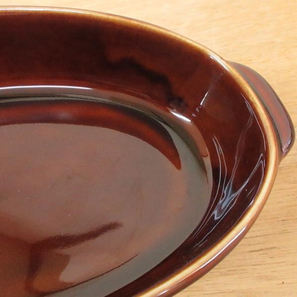 グラタン皿 オーバル 18cm ブラウン 磁器 シンプル おしゃれ 業務用 美濃焼|shikisaionline|06