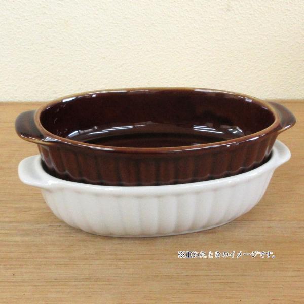 グラタン皿 オーバル 18cm ブラウン 磁器 シンプル おしゃれ 業務用 美濃焼|shikisaionline|08