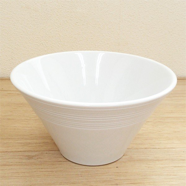白いラーメン丼 19cm深ボウル ルミナ 業務用 美濃焼 |shikisaionline