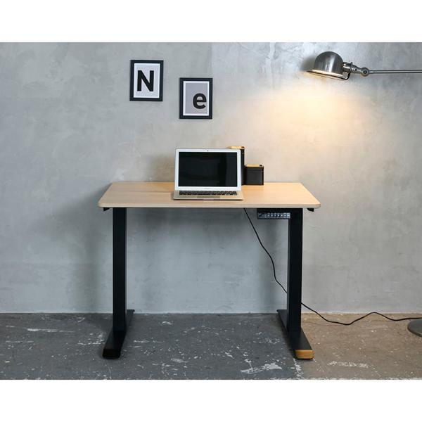 パソコンデスク おしゃれ 昇降 電動 学習 机 PCデスク 学習デスク ワークデスク 電動昇降デスク セット ELD-T1000 (WN)/FS(MBK) (配送員設置)