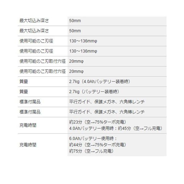 ボッシュ 135mmバッテリーチップソーカッター(※チップソー別売) GKM18V-LI 18V(6.0Ah)フルセット品 shimadougu 04