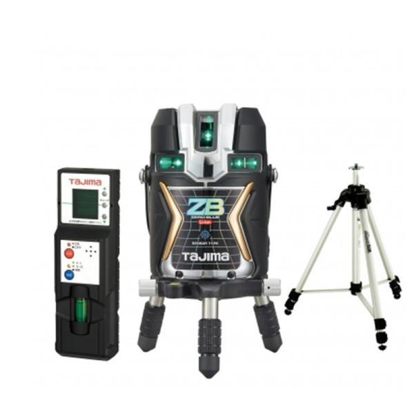 タジマデザイン ZEROBLS-KJCSET フルライン電子整準ブルーグリーンレーザー墨出し器(受光器・単三電池ボックス・三脚付)(リチウム電池タイプ) ◆