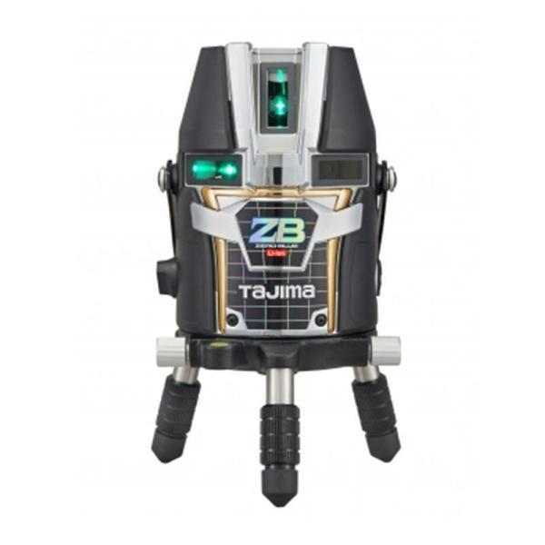 タジマデザイン ZEROBL-KY ブルーグリーンレーザー墨出し器(縦2方向矩・横110°水平ライン・地墨・鉛直十字)(リチウム電池タイプ) 単三電池ボックス付