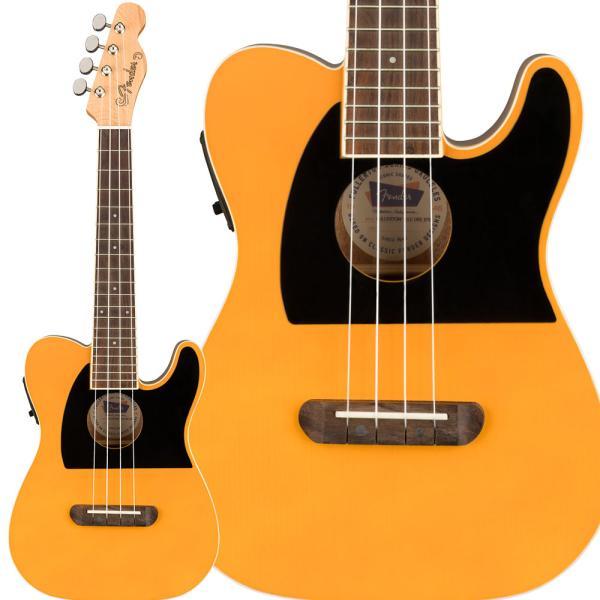 Fender フェンダー Fullerton Tele Uke Butterscotch Blonde ウクレレ コンサート ピックアップ付き