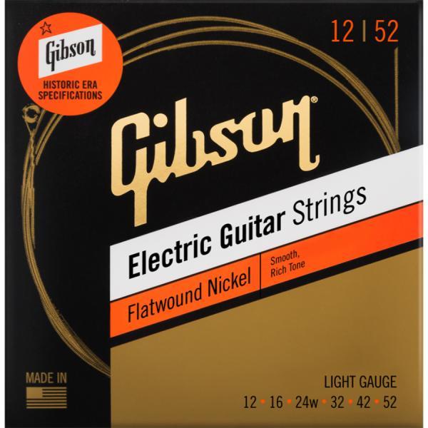 GibsonギブソンSEG-FW12FlatwoundNickelエレキギター弦Light012-052