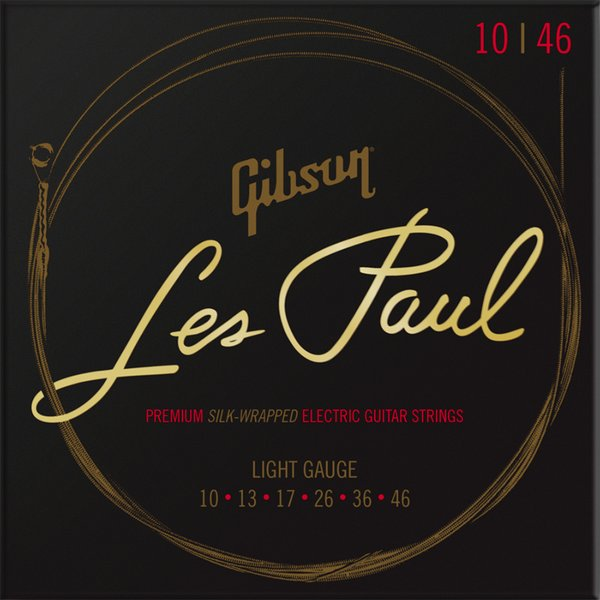 GibsonギブソンSEG-LES10LesPaulPremiumエレキギター弦Light010-046