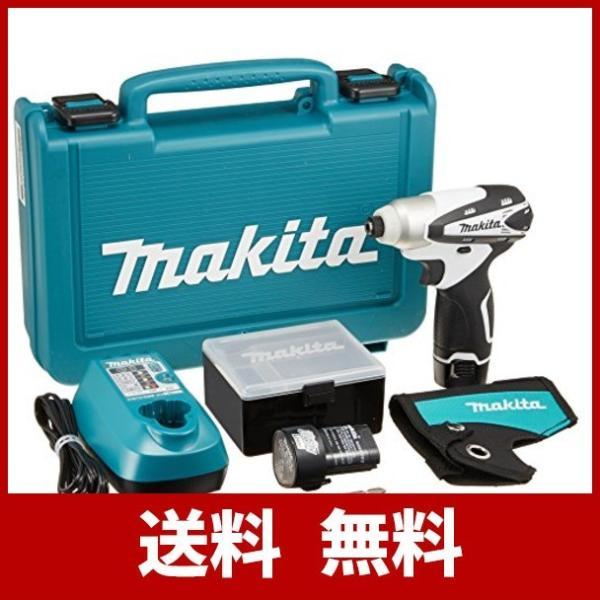 マキタ(Makita)  充電式インパクトドライバ 10.8V 1.3Ah 白 バッテリー2個付き TD090DWXW|shimarisu-shop