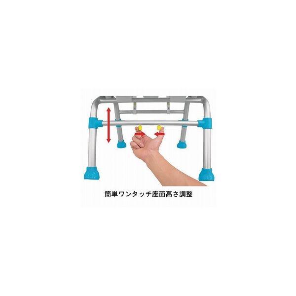 テイコブ シャワーチェア 座面U字型タイプ ブルー SCU01 (幸和製作所) (シャワーベンチ)