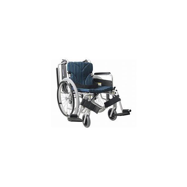 アルミ自走車いす 簡易モジュール 低床タイプ 座幅42cm No.100 KA822-38・40・42B-LO (カワムラサイクル) (自走用車いす)