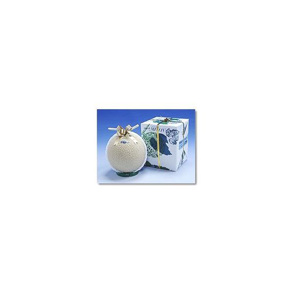 ギフト 贈答 静岡産 温室マスクメロン アローマ印 1個入 送料無料 山級 1.5kg前後