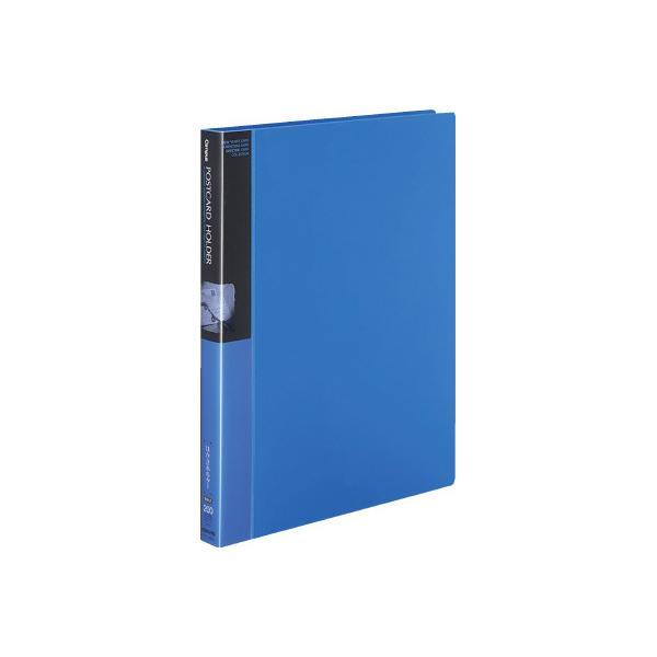 コクヨ キャンパス ポストカードホルダー替紙式 A4縦 縦入れ 30穴 100枚収容 青 ハセ−120B ●10パックセット