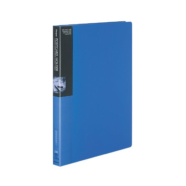 コクヨ キャンパス ポストカードホルダー固定式 A4縦 横入れ120ポケット 青 ハセ−220NB ●10パックセット