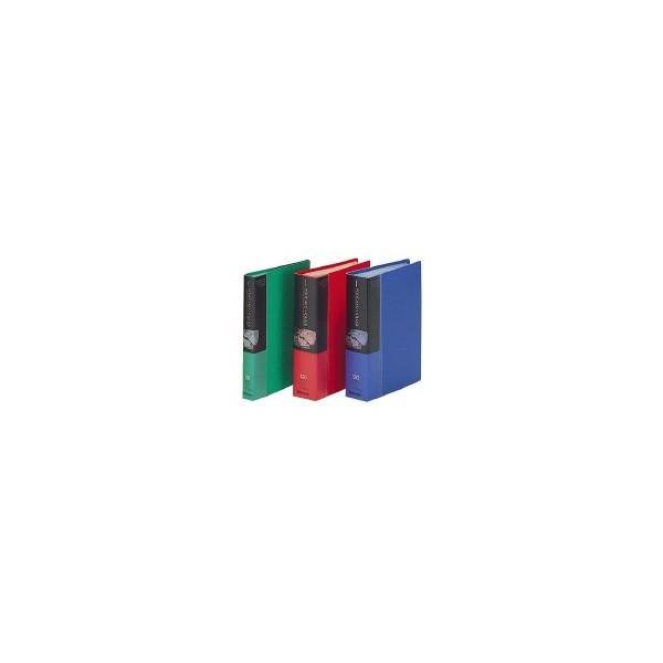 コクヨ キャンパス ポストカードホルダー固定式 A6縦 縦入れ60ポケット 赤 ハセ−30NR