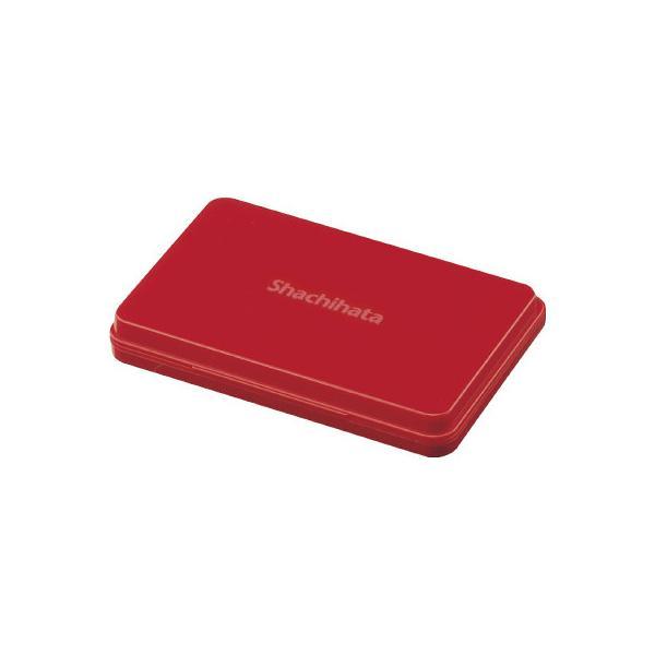 シヤチハタ シヤチハタ スタンプ台 大形 盤面サイズ:67×106mm 赤 HGN−3−R ●10パックセット