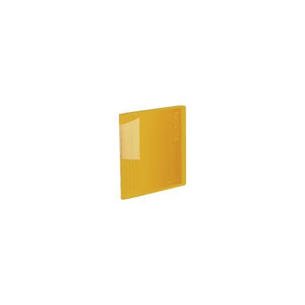 コクヨ ポストカードホルダー ノビータ 60枚 A6縦 固定式60枚ポケット 黄 ハセ−N60Y ●10パックセット
