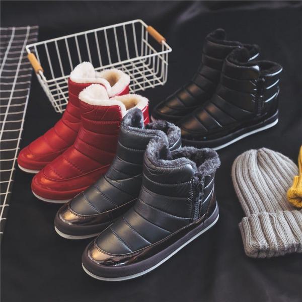 ムートン ブーツ ショート ブーツ ファー レディース スノーブーツ 防寒 滑り防止 ブーツ 裏起毛 ボア  秋 冬 冬物 靴
