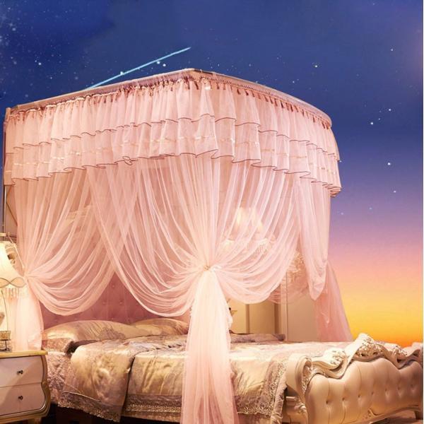 蚊帳 かや ムカデ対策 宮廷式蚊帳 姫風蚊帳 贅沢 大空間 おしゃれ 寝具 かや 虫除け 虫よけ 120/150/180cmベッド適用|shimizu