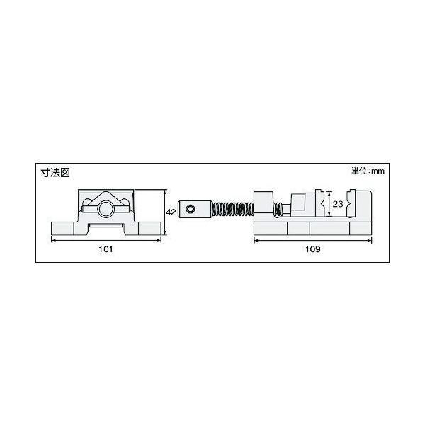 ホーザン(HOZAN) マシンバイス 万力 穴開け加工時の保持用バイス 口幅:50mm 最大口開幅:30mm 口高さ:25mm K-26|shimizunet004