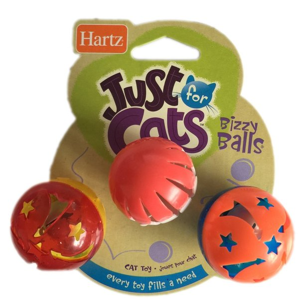 鈴の入ったボール(猫用おもちゃ)Just for Cats Bizzy Balls ビジーボール 3 個セット カラーアソート 並行輸入品|shimizunet004|04