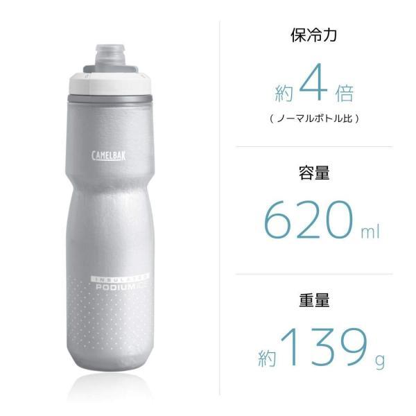 CAMELBAK(キャメルバック) ポディウムアイス 自転車用保冷保温ボトル 保冷効果4倍 エアロジェル採用 620ml(21oz) ホワイ|shimizunet004|06