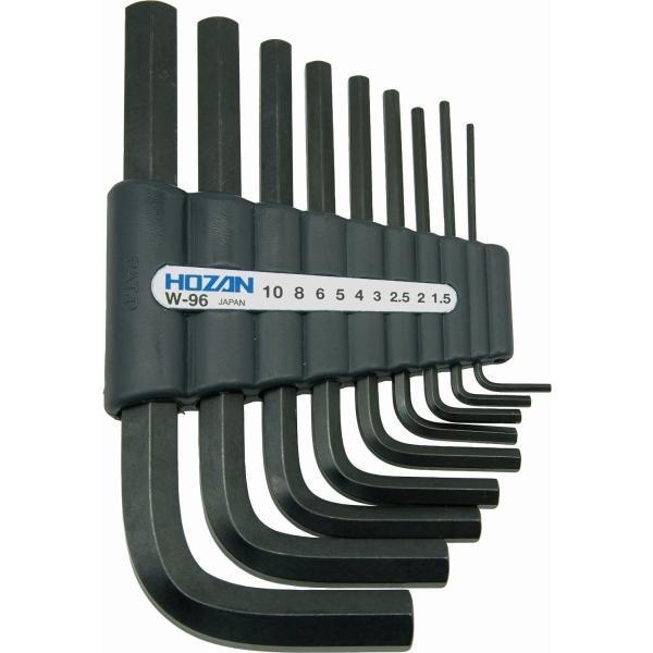 ホーザン(HOZAN) アーレンキー キーレンチ 六角レンチセット 9本セット 収納ホルダー付 対辺サイズ:1.5/2/2.5/3/4/5/|shimizunet004|02