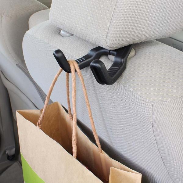 ナポレックス 車用 シートフック Fizz ダブルシートフック 簡単取付 耐荷重8kg ブラック 汎用 Fizz-1076|shimizunet004