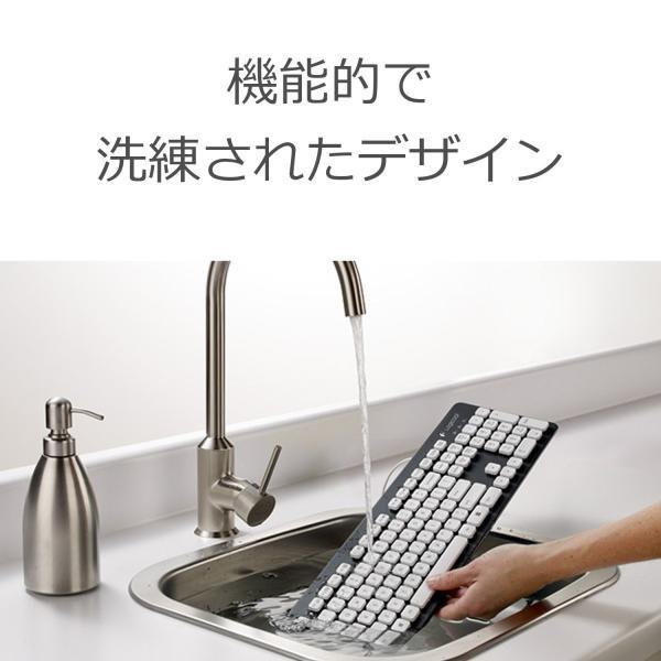 LOGICOOL ウォッシャブル キーボード K310|shimizunet004|02
