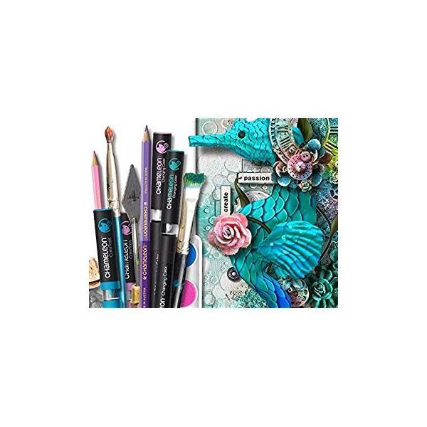 カメレオンペン 色鉛筆 油性 25本 50色 グラデーション(大人の塗り絵 イラスト画材)-正規品 shimizunet004 04