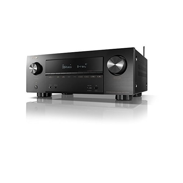 DENON AVレシーバー 7.2ch Dolby Atmos/DTS:X/4K HDR/HEOS/Airplay2対応 ミドルクラス ブラ