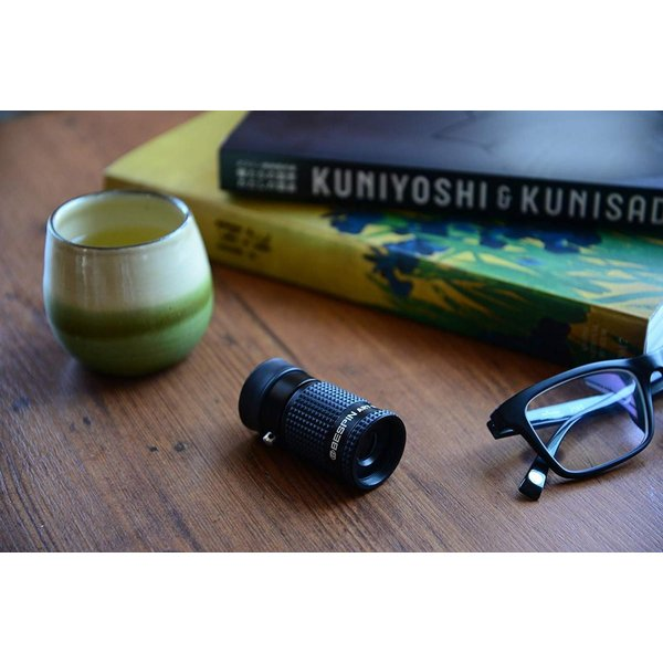 BESPIN 単眼鏡 美術館モデル 4x12 アーツモノキュラー メガネ対応 美術鑑賞向き ケース & ネックストラップ付