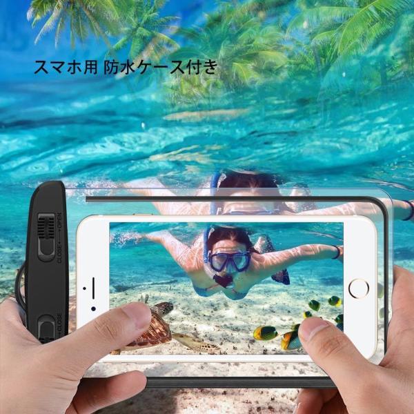 防水ドライバッグ + 防水スマホケース 安全な水泳用, トライアスロン 水泳ボードインフレータブルスイムブイプール/ビーチ用|shimizusyouten01|03