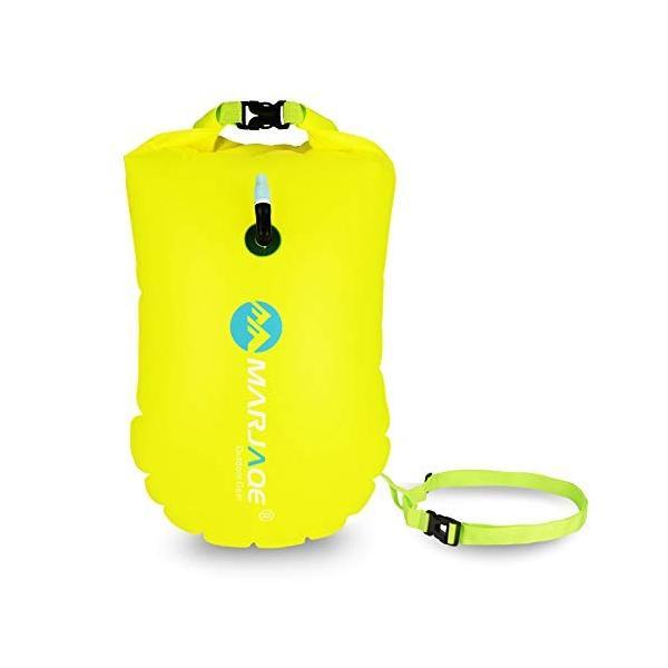 防水ドライバッグ + 防水スマホケース 安全な水泳用, トライアスロン 水泳ボードインフレータブルスイムブイプール/ビーチ用|shimizusyouten01|08