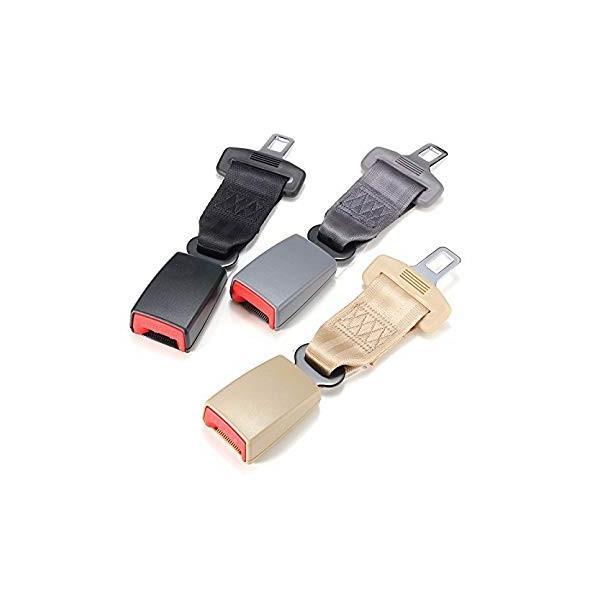 ユニバーサル23センチ/9インチカーシートシートベルト安全ベルトエクステンダー延長2.1センチバックル黒グレーベージュ適合車種ほとんどの車- shimizusyouten01