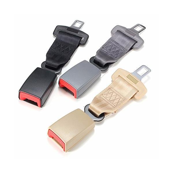 ユニバーサル23センチ/9インチカーシートシートベルト安全ベルトエクステンダー延長2.1センチバックル黒グレーベージュ適合車種ほとんどの車- shimizusyouten01 04