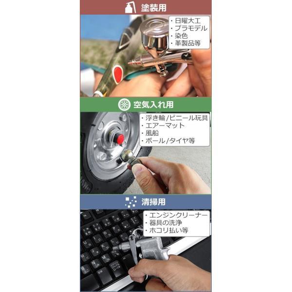 ミナトワークス オイルレス型エアーコンプレッサー (100V/タンク容量8L) CP-8A|shimizusyouten01|06