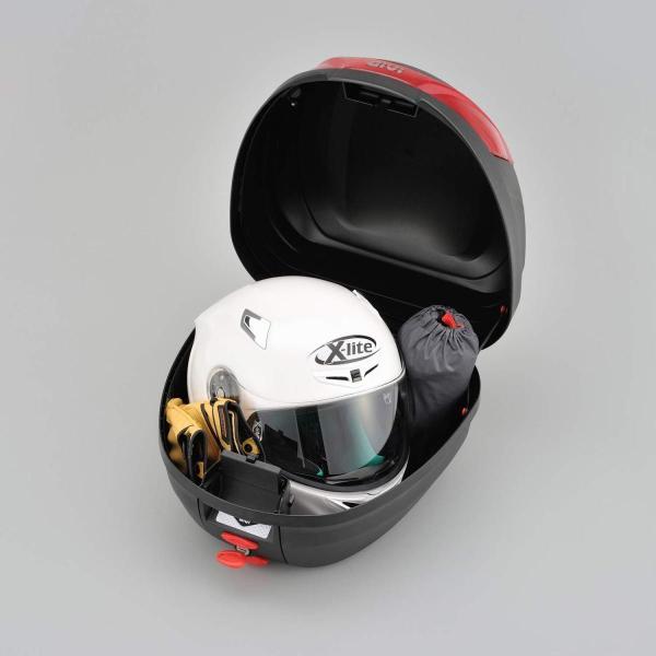GIVI(ジビ)イタリアブランド モノロックケース(トップケース/リアボックス) 未塗装ブラック 容量27L 汎用ベース付き ストップランプ|shimizusyouten01|05