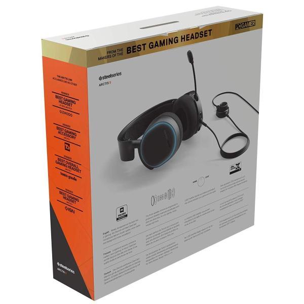 国内正規品密閉型 ゲーミングヘッドセット SteelSeries Arctis 5 Black (2019 Edition) 61504|shimizusyouten01|13