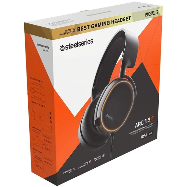 国内正規品密閉型 ゲーミングヘッドセット SteelSeries Arctis 5 Black (2019 Edition) 61504|shimizusyouten01|14